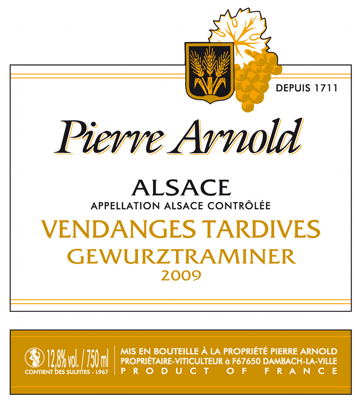 Alsace Vendanges Tardives