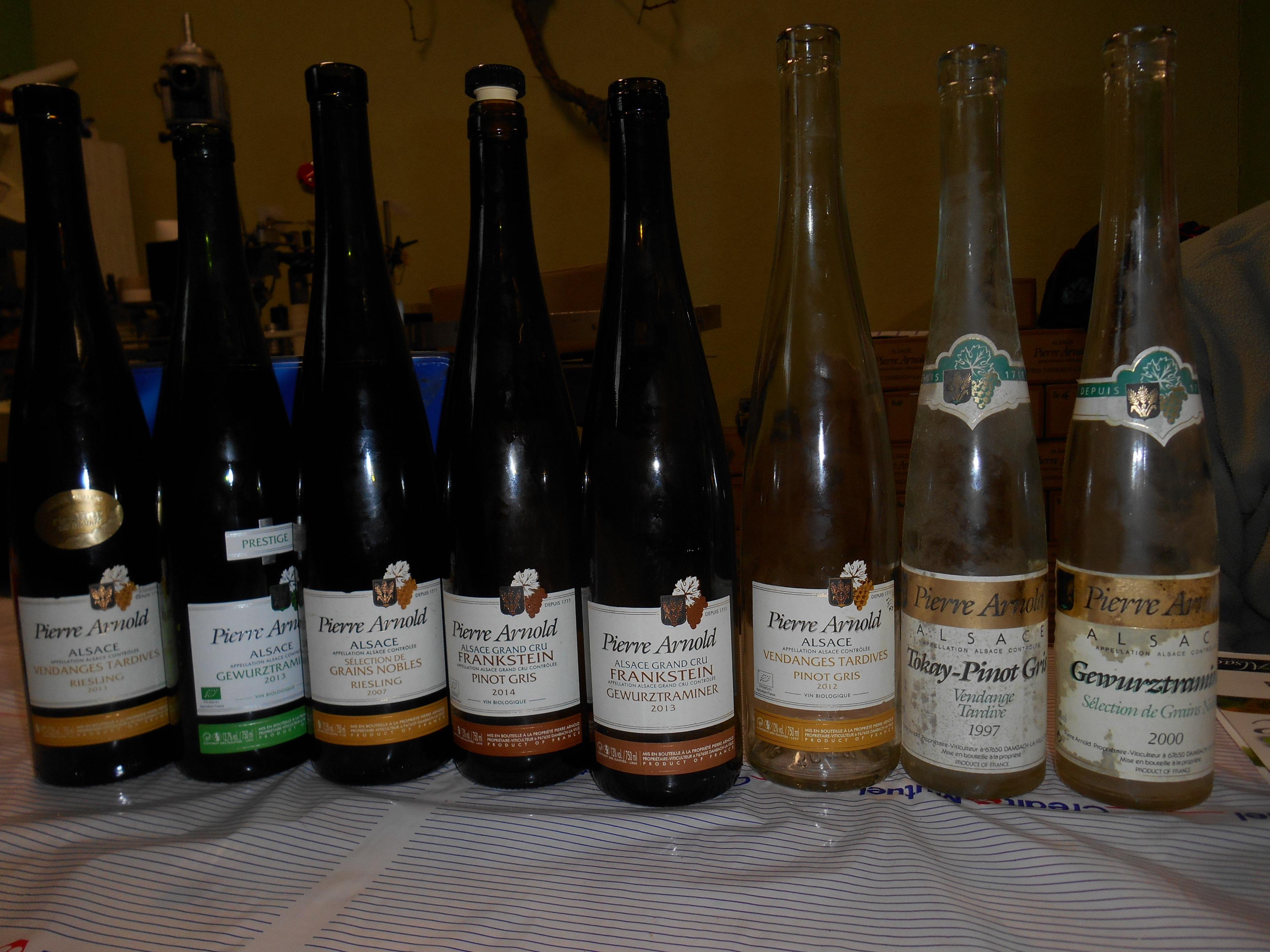 quelques bouteilles dégustées au retour des vignes